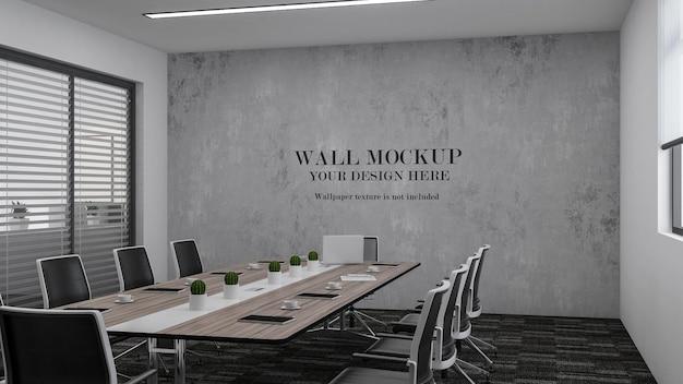 Mockup di parete moderna della sala riunioni