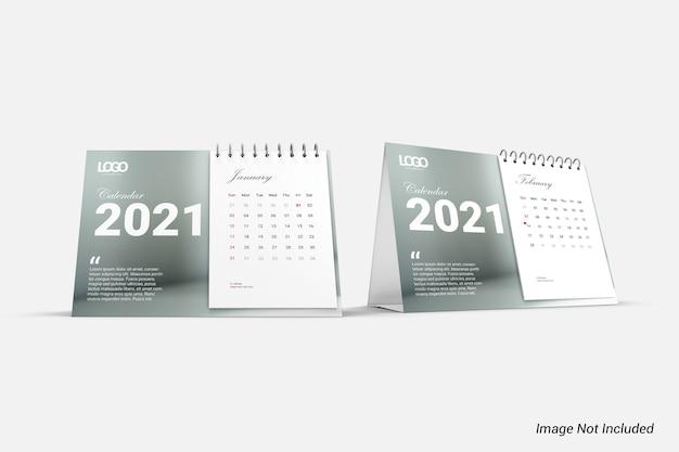 Mockup di calendario minimalista moderno isolato