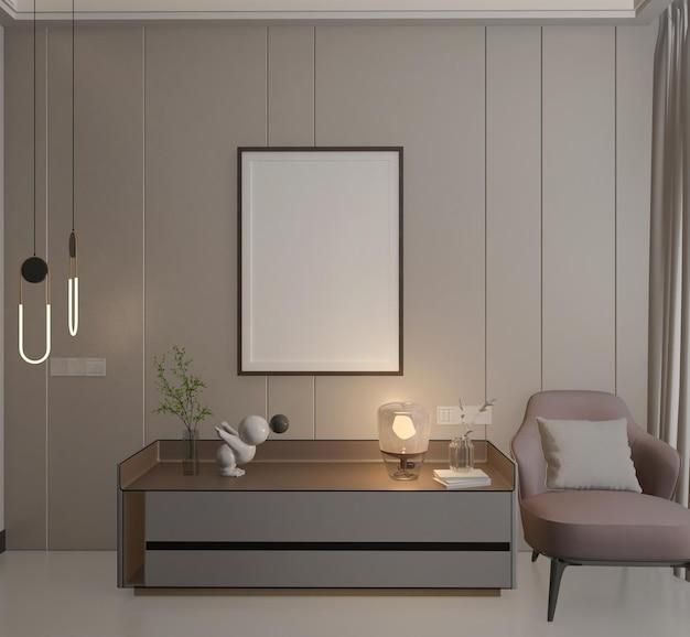 Interni moderni e minimalisti con mockup poste