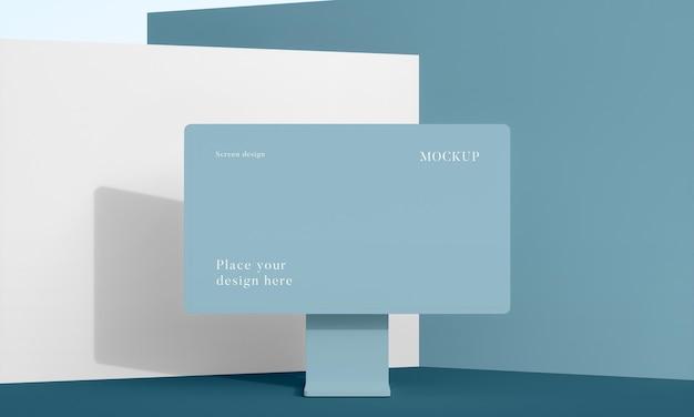 Moderna disposizione del desktop mock-up