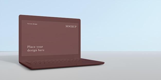 Disposizione moderna del laptop mock-up