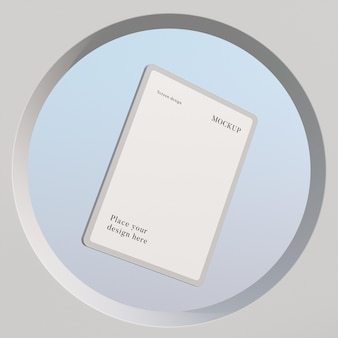 Disposizione moderna del tablet mock-up