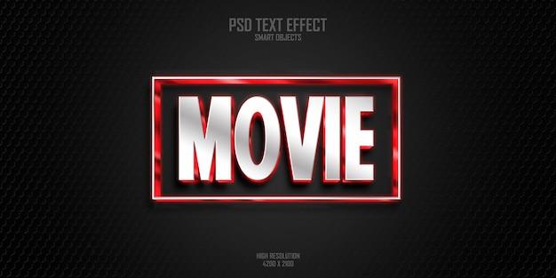 Effetto di stile di testo in grassetto 3d di film moderno