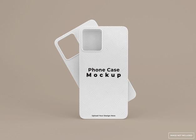 Design moderno del modello della cassa del telefono nella rappresentazione 3d isolata