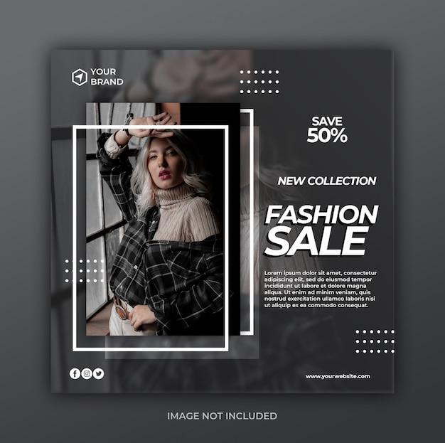 Promozione moderna di vendita per modello di banner post di instagram social media