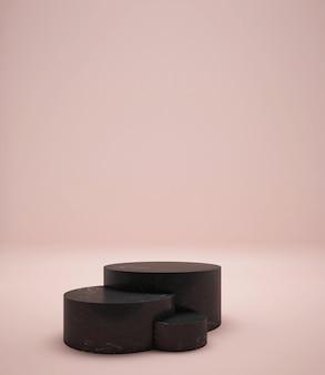 Podio geometrico semplice moderno per il rendering 3d del prodotto