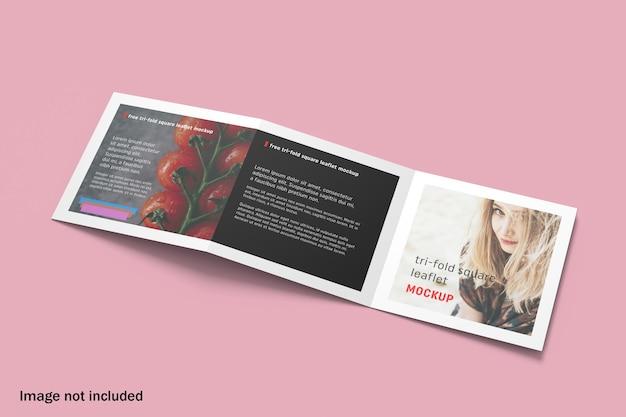 Mockup di brochure a tre ante quadrato moderno