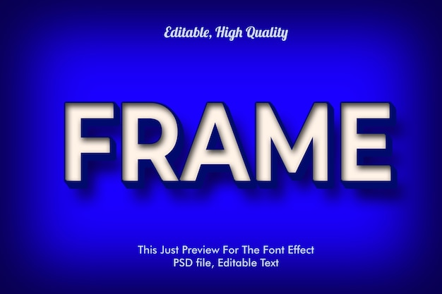 Stile moderno effetto carattere 3d alla moda, mockup