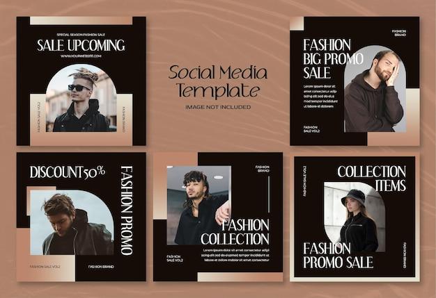 Banner di social media moda estiva moderna e modello di post di instagram Psd Premium