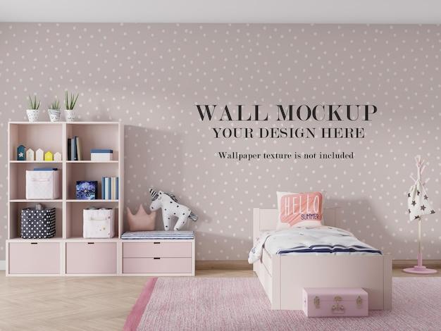 Design moderno mockup a parete nella stanza di rendering 3d