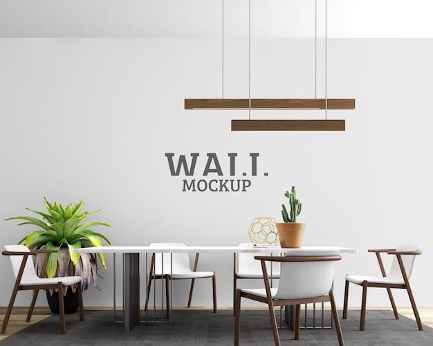 Mockup di parete dello spazio di lavoro moderno