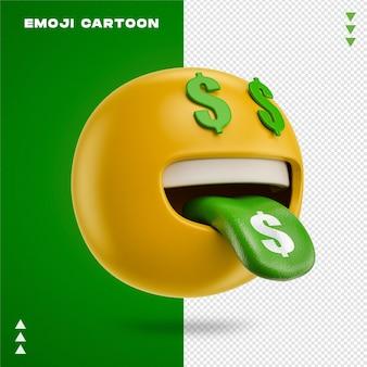 Emoji faccia soldi