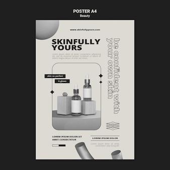 Modello di stampa monocromatica per la cura della pelle