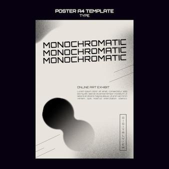 Modello di stampa d'arte monocromatica
