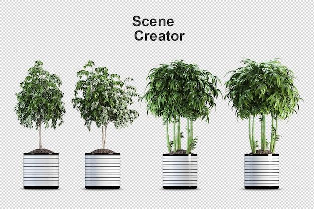 Pianta di monstera in vaso nel rendering 3d Psd Premium