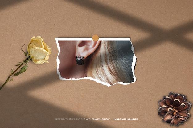 Moodboard foto di moda polaroid mockup