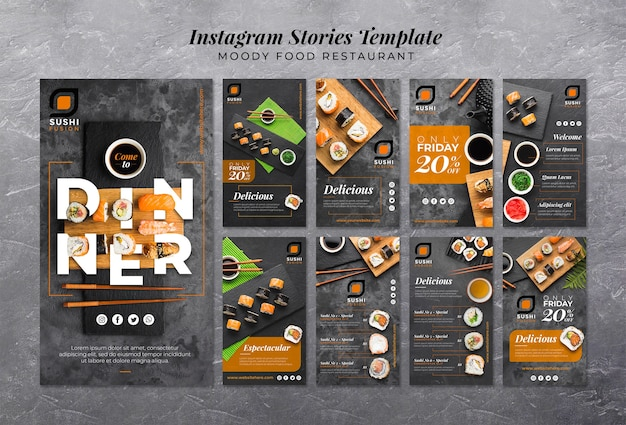 Storie di instagram ristorante moody food