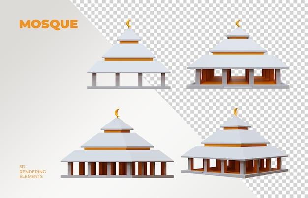 Moschea 3d rendering elements
