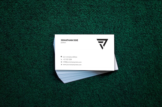Moss stacked businesscard mockup
