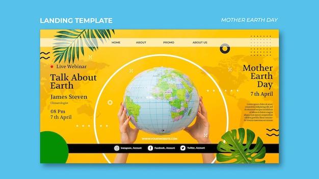 Modello web di madre terra giorno Psd Premium