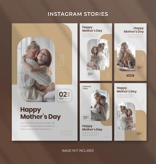 Modello modificabile per la festa della mamma per banner di storia di instagram sui social media