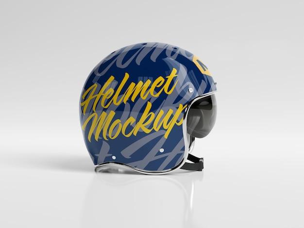 Mockup isolato casco della motocicletta