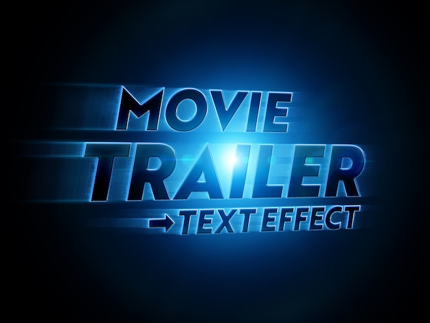 Movie title text effect mockup