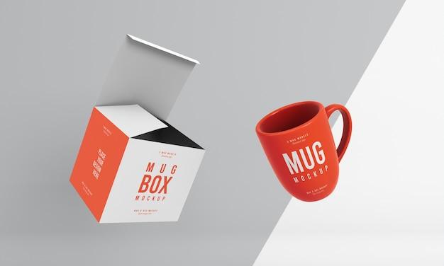 Assortimento mock-up di mug box