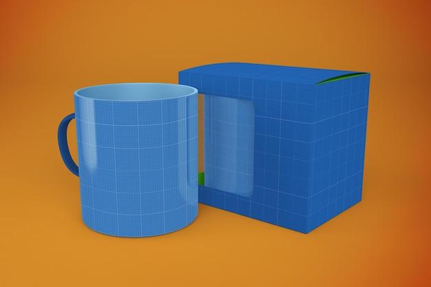 Mockup di scatola di tazze