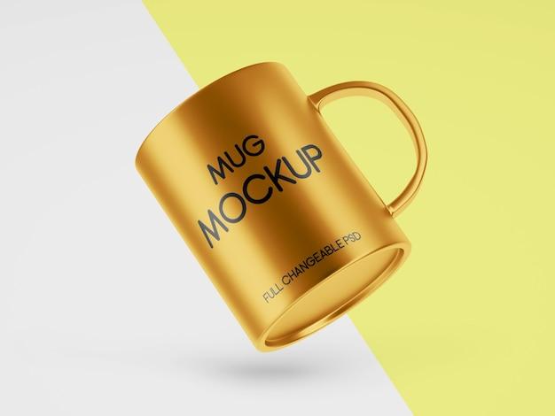 Mug mockup design per affari isolati