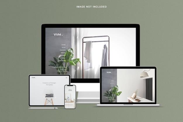 Mockup di sito web reattivo per più dispositivi