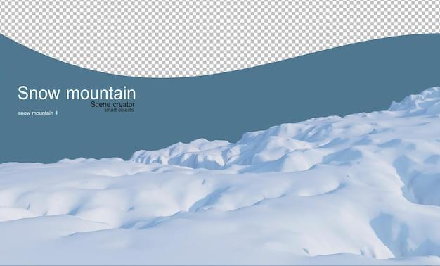Colline multilivello coperte di neve su tutte le colline