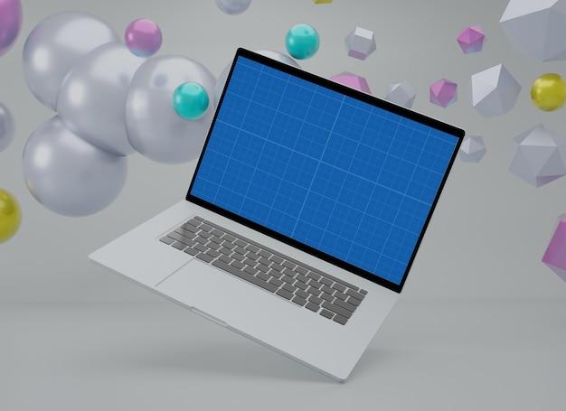 Mockup creativo multiplo dello schermo del laptop