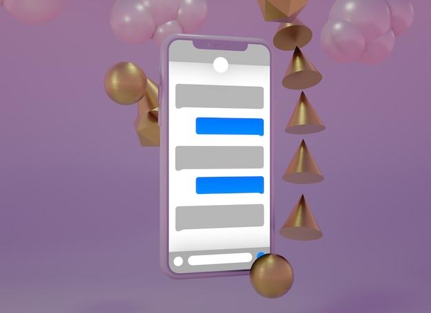 Mockup creativo multiplo dello schermo del cellulare