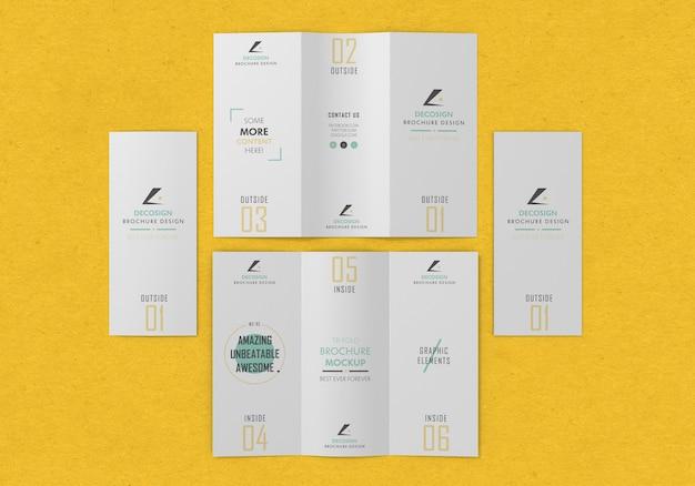 Mockup brochure pieghevole multipla