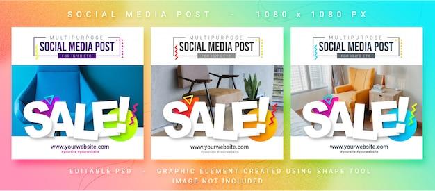 Vendite multiuso social media post