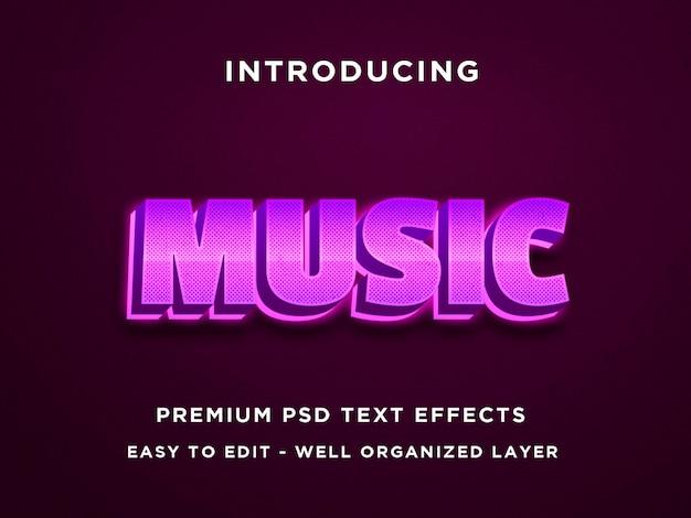 Modelli di effetti di testo di musica 3d