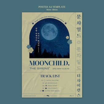 Modello di progettazione del poster dell'album musicale