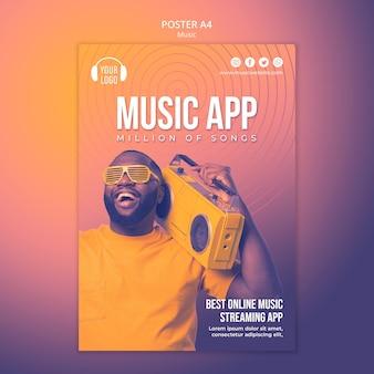 Modello di poster di concetto di musica