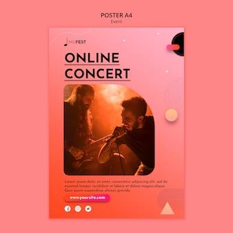 Modello di poster di eventi musicali