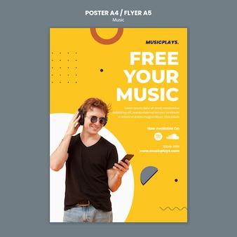 Modello di stampa di musica per tutti