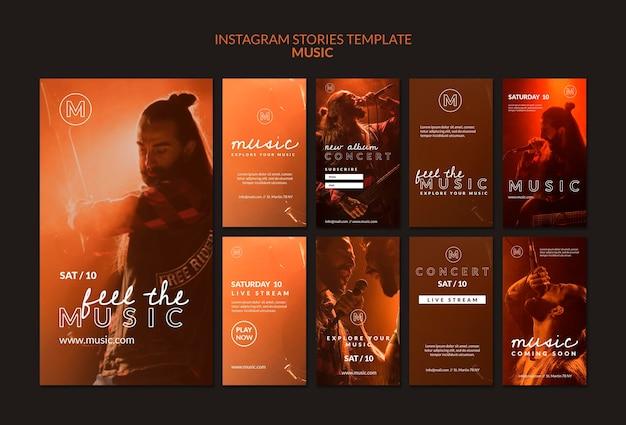 Modello di storie di instagram del festival musicale