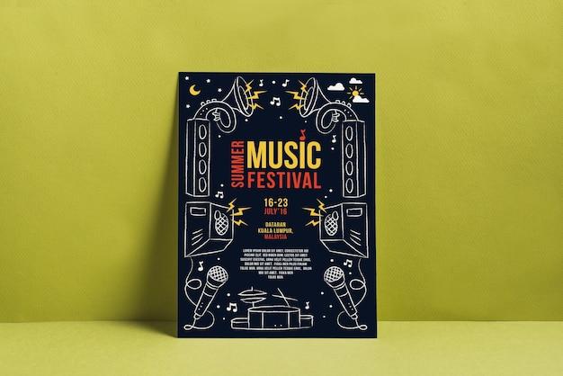 Mockup di poster festival musicale