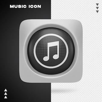 Musica icon design nel rendering 3d