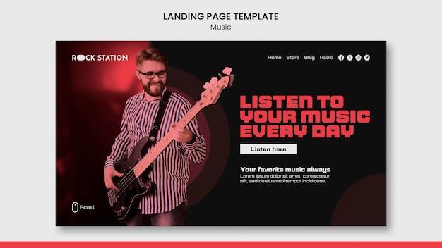 Modello di progettazione della pagina di destinazione della musica