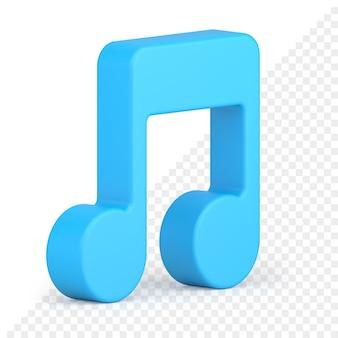 Icona 3d della nota musicale