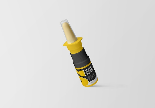 Mockup di flacone spray nasale