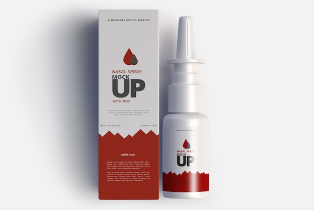 Spray nasale mock up Psd Premium