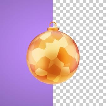 Illustrazione 3d della palla natale