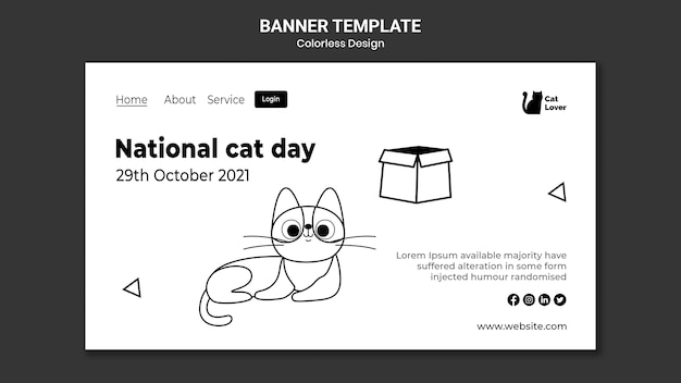 Banner della giornata nazionale del gatto
